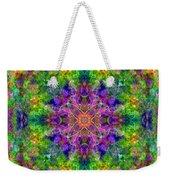 Violet Cosmos Mandala Weekender Tote Bag