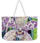 Violet Dotted Orchid Weekender Tote Bag