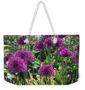 Violet Flowerbed Weekender Tote Bag