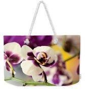 Violet Orchids Brushed With Gold Weekender Tote Bag