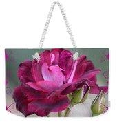 Violet Red Rose Weekender Tote Bag