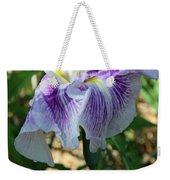 Violet Striped Iris Weekender Tote Bag