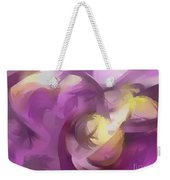 Violet Summer Pastel Abstract Weekender Tote Bag