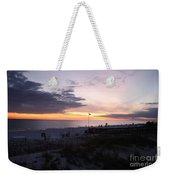 Violet Sunset Over The Sea Weekender Tote Bag