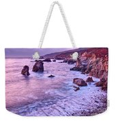 Violet Tides - Rocky Coast From Soberanes Point In Garrapata State  Weekender Tote Bag