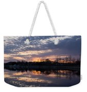 Violet Twilight On The Lake Weekender Tote Bag