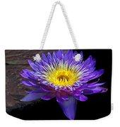 Violet Waterlily Weekender Tote Bag