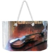 Violin On Credenza Weekender Tote Bag