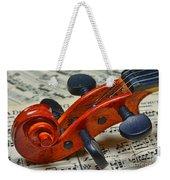 Violin Scroll Up Close Weekender Tote Bag