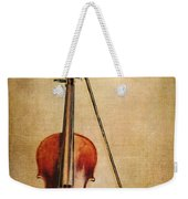 Violin With Bow Weekender Tote Bag