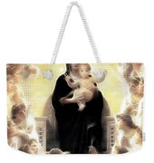 Virgin And Child Fractalius Weekender Tote Bag