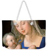 Virgin And Child Holding A Half-eaten Pear, 1512 Weekender Tote Bag