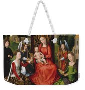 Virgin And Child With Saints Catherine Of Alexandria And Barbara Weekender Tote Bag
