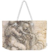 Virgin And Child With St. Anne Weekender Tote Bag by Leonardo da Vinci