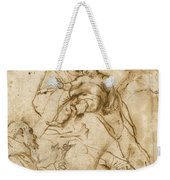 Virgin And Child With Saint Francis Weekender Tote Bag