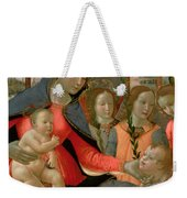 Virgin And Child With St John The Baptist And The Three Archangels Weekender Tote Bag