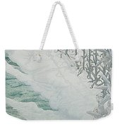 Virgin Of The Lilies Weekender Tote Bag by Carlos Schwabe