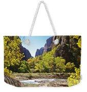 Virgin River In Zion National Park Weekender Tote Bag