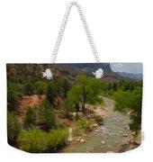 Virgin River Through Zion National Park Weekender Tote Bag
