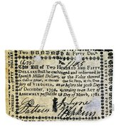 Virginia Banknote, 1781 Weekender Tote Bag