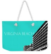 Virginia Beach Skyline Boardwalk  - Aqua Weekender Tote Bag