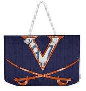 Virginia Cavaliers College Sports Team Retro Vintage Recycled License Plate Art Weekender Tote Bag