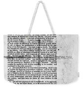 Virginia: Constitution Weekender Tote Bag