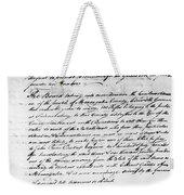 Virginia Council, 1778 Weekender Tote Bag