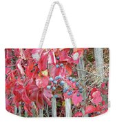 Virginia Creeper Fall Leaves And Berries Weekender Tote Bag