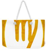 Virgo And Solar Chakra Abstract Spiritual Artwork By Omaste Witk Weekender Tote Bag