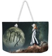 Virgo Zodiac Symbol Weekender Tote Bag by Daniel Eskridge