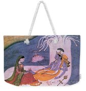 Vishnu And Lakshmi Float Across Cosmos Weekender Tote Bag by Photo Researchers