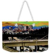 Visiting Spokane Weekender Tote Bag
