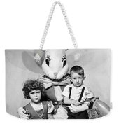 Visiting The Easter Bunny Weekender Tote Bag