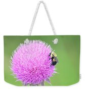 Visitor On Thistle Weekender Tote Bag