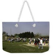 Visitors Having A Good Time At The Blair Drummond Safari Park Weekender Tote Bag