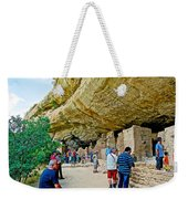 Visitors To Spruce Tree House On Chapin Mesa In Mesa Verde National Park-colorado Weekender Tote Bag
