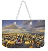 Vista Of Reykjavik  Weekender Tote Bag