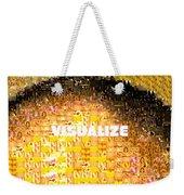Visualize Gold Weekender Tote Bag
