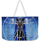 Vitruvian Cyberman In Deep Space  Weekender Tote Bag