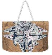 Vitruvian Falcon Millenium Weekender Tote Bag