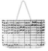 Vivaldi Manuscript Weekender Tote Bag