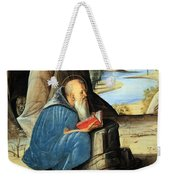 Vivarini's Saint Jerome Reading Weekender Tote Bag