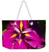 Vivid Iris Weekender Tote Bag
