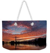 Vivid Skyscape - Summer Sunset At Toronto Beaches Marina Weekender Tote Bag