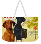 Vizsla Art Canvas Print - Bus Stop Movie Poster Weekender Tote Bag