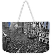 Vj Day Times Square New York City 1945 Color Added 2013 Weekender Tote Bag