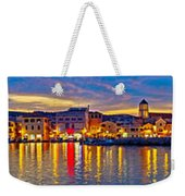 Vodice Waterfront Colorfu Evening Panorama Weekender Tote Bag