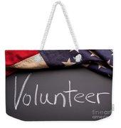 Volunteer Sign On Chalkboard Weekender Tote Bag