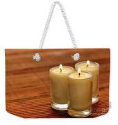 Votive Candle Burning Weekender Tote Bag